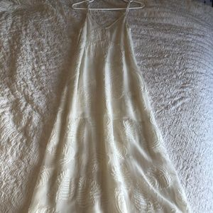 ARITZIA Wilfred White Feather Detailed Dress